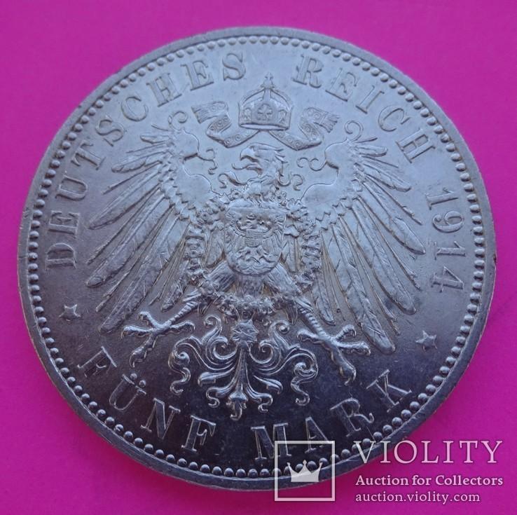5 марок, Саксония, 1914 год., фото №4