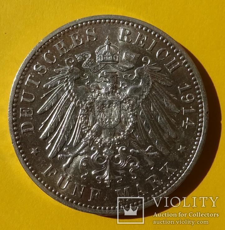 5 марок, Саксония, 1914 год., фото №5
