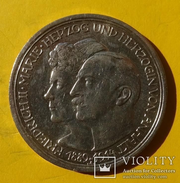 3 марки, Анхальт, 1914 год., фото №2