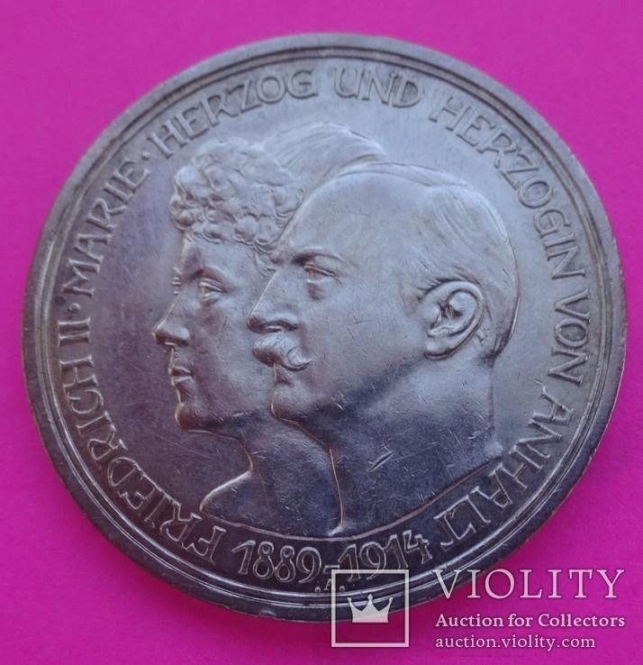 3 марки, Анхальт, 1914 год., фото №3