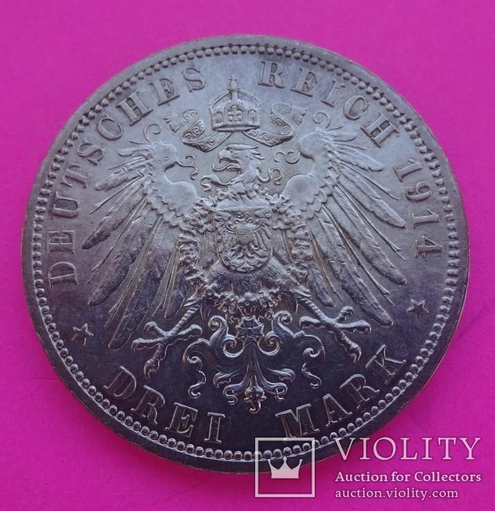 3 марки, Анхальт, 1914 год., фото №4