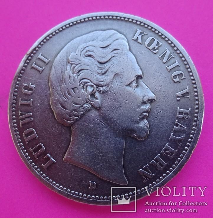 5 марок, 1875 год, Бавария,, фото №3