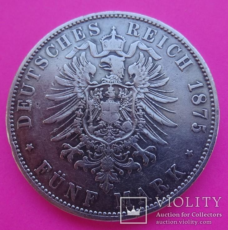 5 марок, 1875 год, Бавария,, фото №4