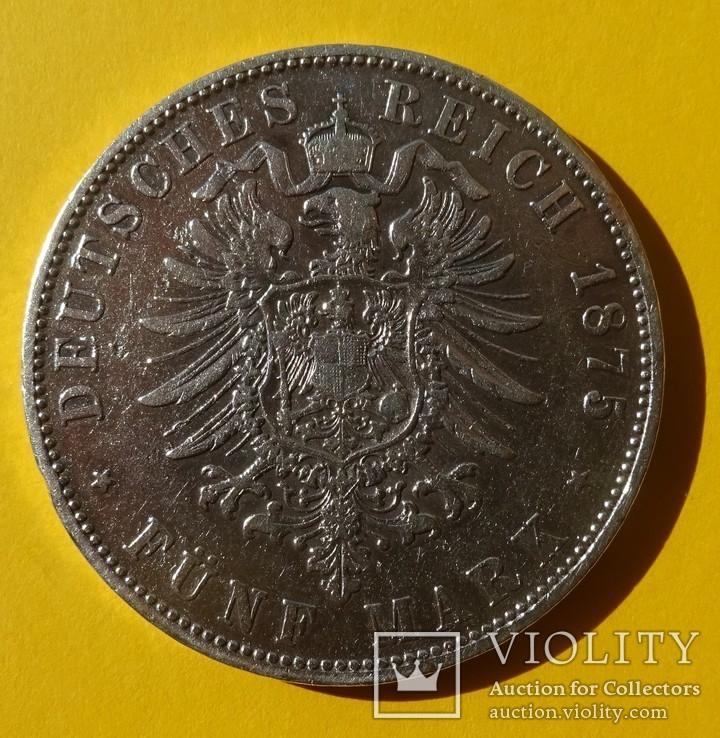 5 марок, 1875 год, Бавария,, фото №5
