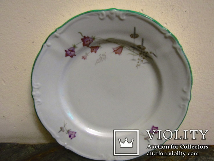 Тарелка антикварная клеймо Unger & Schilde Roschutzer Thuringia Германия, фото №2