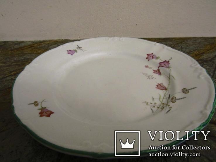 Тарелка антикварная клеймо Unger & Schilde Roschutzer Thuringia Германия, фото №3