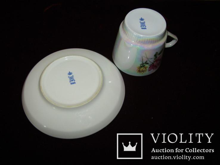 Кофейная пара чашка блюдце клеймо Höchst Porzellan Германия, фото №8