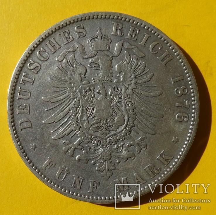 5 марок, 1876 год, Саксония., фото №6