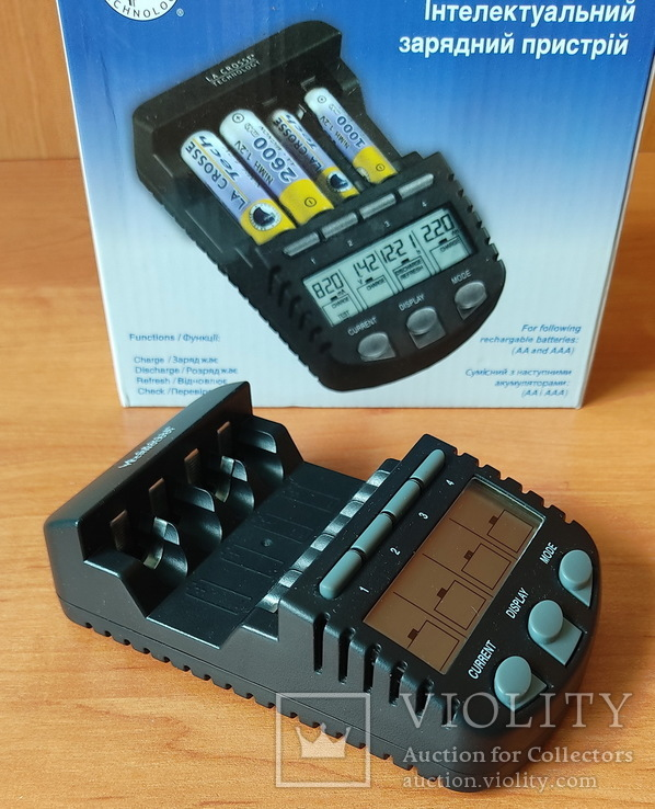 Умное зарядное устройство La Crosse для AA/АAA аккумуляторов
