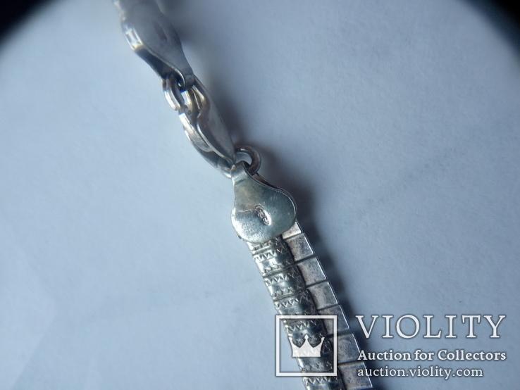Серебряное колье Италия, фото №5