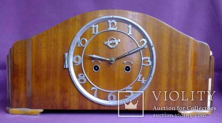 Часы каминные с боем ОЧЗ Орловский часовой завод 1957 год. Рабочие., фото №2