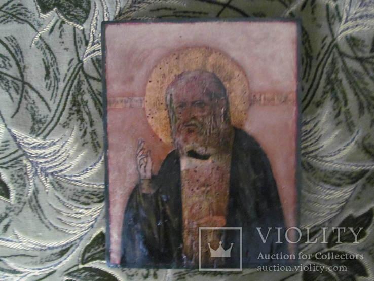 Ікона св.Серафима Соровського,розмір 21х27 см., фото №2