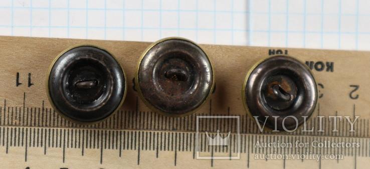 Пуговицы с якорями / 3 штуки /, тяж. металл., фото №9