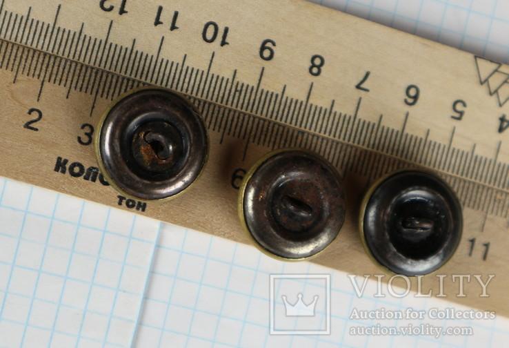Пуговицы с якорями / 3 штуки /, тяж. металл., фото №10
