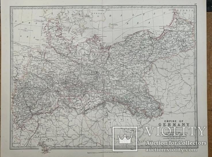 1880 Германская Империя. Польша. Россия. 1880. Оригинал., фото №2