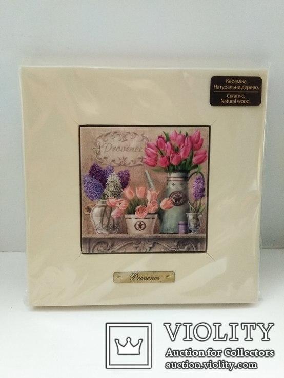 Картина на керамике в деревянной раме #3, фото №2