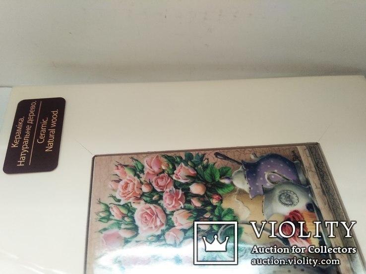 Картина на керамике в деревянной раме #5, фото №5