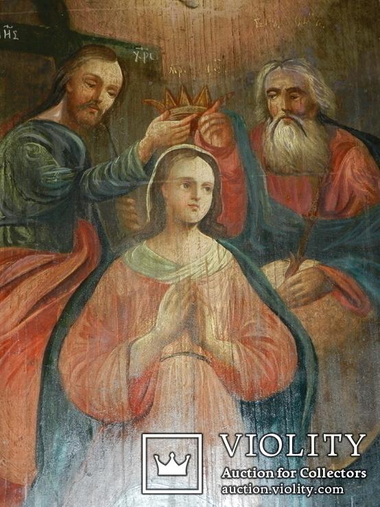 Коронация Марії вис 53см ширена 44см товщ 2см, фото №4