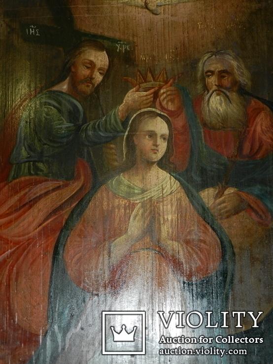 Коронация Марії вис 53см ширена 44см товщ 2см, фото №3