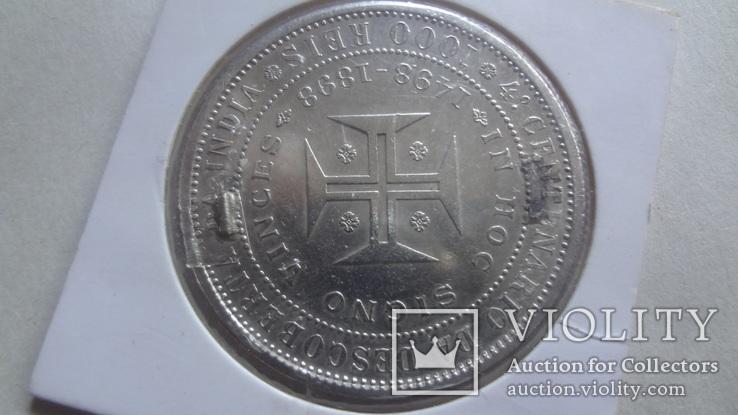 1000 рейс 1898 Португалия серебро Холдер 522~, фото №6