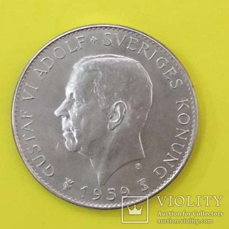 Швеція 5 крон, 1959 150-річчя Конституції, фото №2