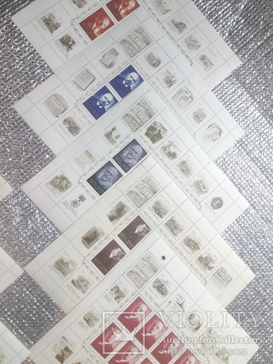 Серия  из 10-ти малых листов. Ленин., фото №3