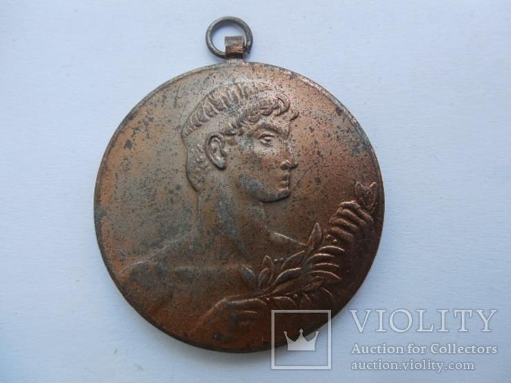 Медаль Венгрия спорт 1961 г. III место по шахматам., фото №2