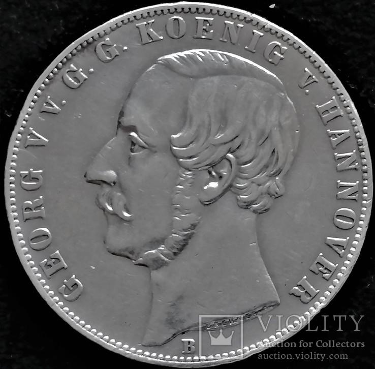 2 талера 1866 року Георг V Ганновер, срібло