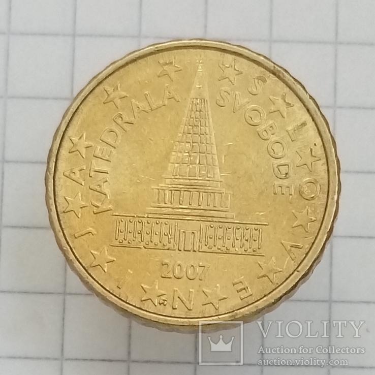 """10 евроцентов 2007г Словения """"Катэдра свободы"""", фото №2"""