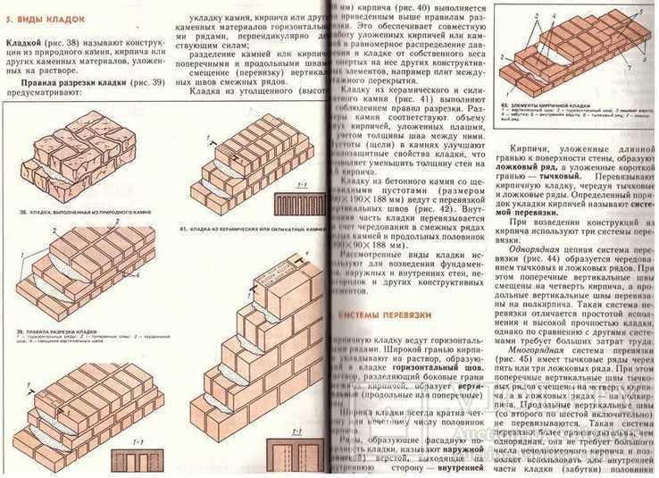 Иллюстрированное пособие для подготовки каменщиков.1988 г., фото №8