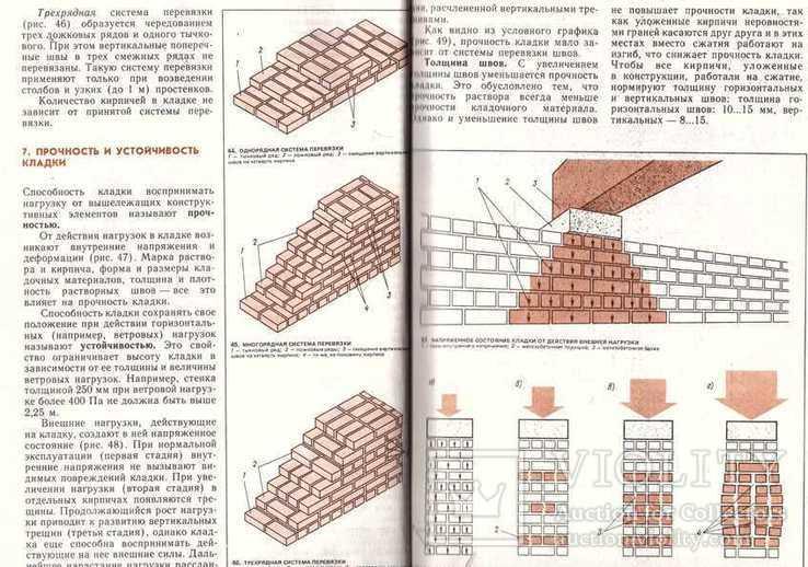 Иллюстрированное пособие для подготовки каменщиков.1988 г., фото №9