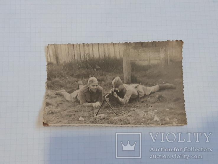 Фото солдат с пулеметом, фото №3