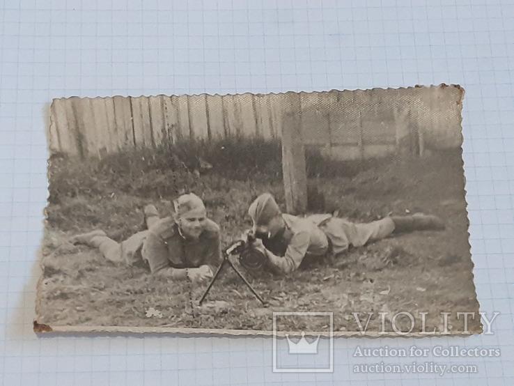 Фото солдат с пулеметом, фото №2