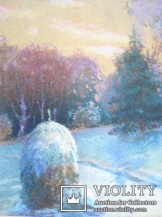 """Акулова Н. """"Зима. Стог. """" 1971 г., фото №4"""