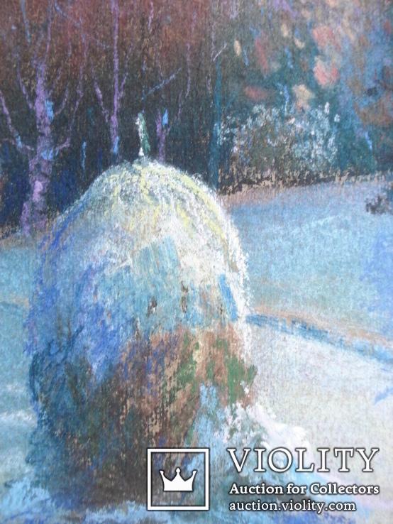 """Акулова Н. """"Зима. Стог. """" 1971 г., фото №5"""