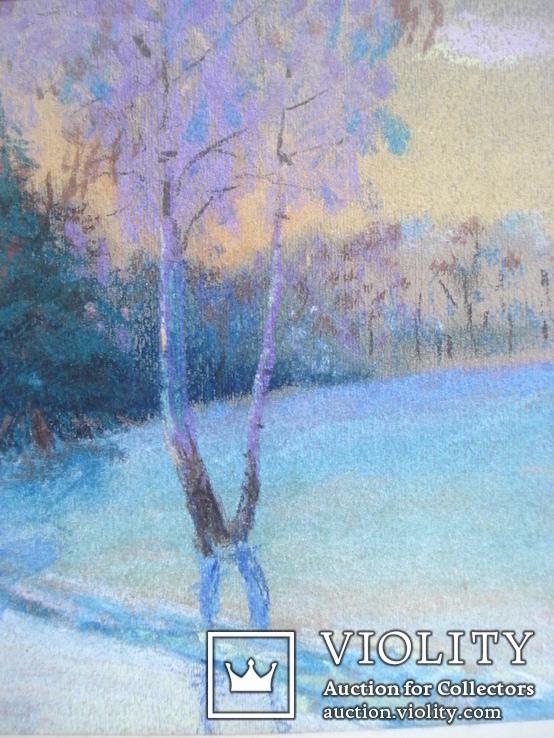 """Акулова Н. """"Зима. Стог. """" 1971 г., фото №8"""