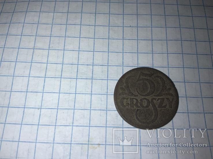 Польща 5 грошей, 1923, фото №2