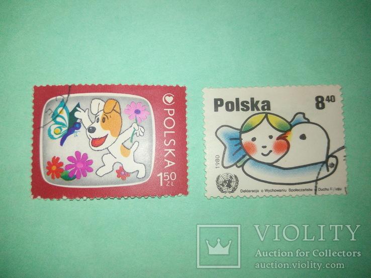 Польские марки 2шт.