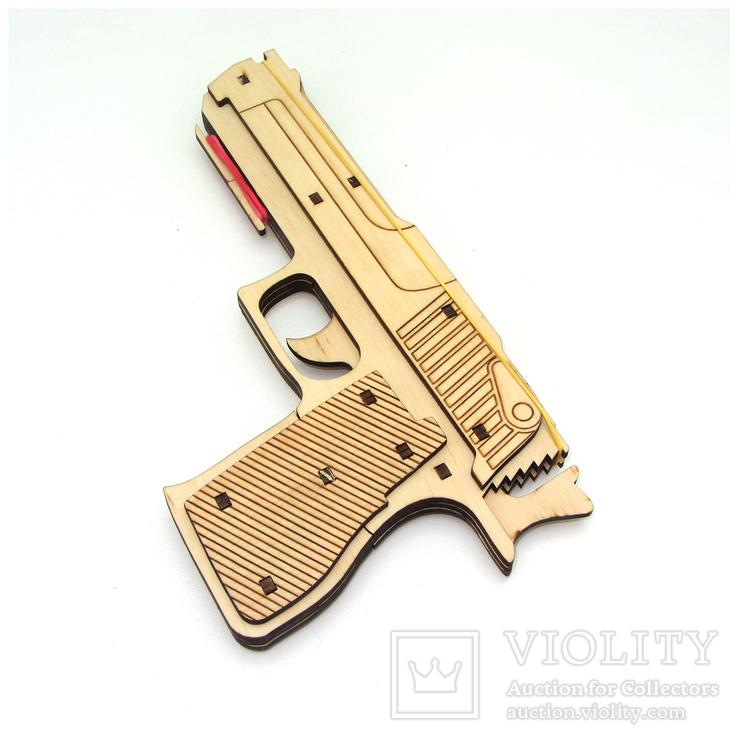 Сувенирный деревянный пистолет, фото №2