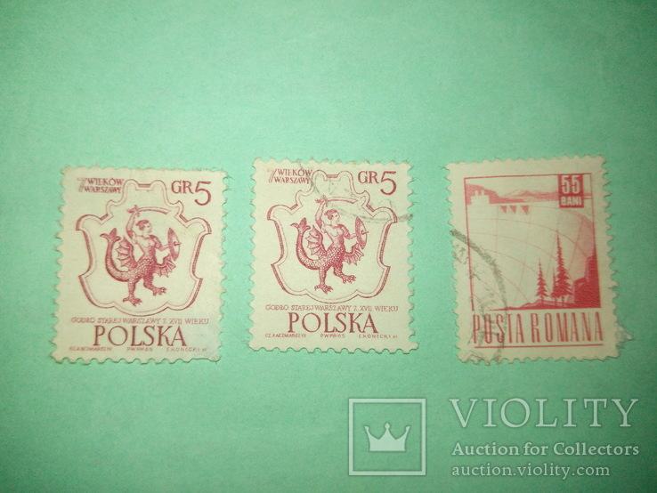 Три марки Польские