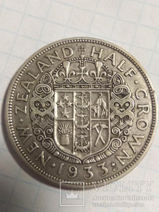 Полу крона 1933г.Новая Зеландия