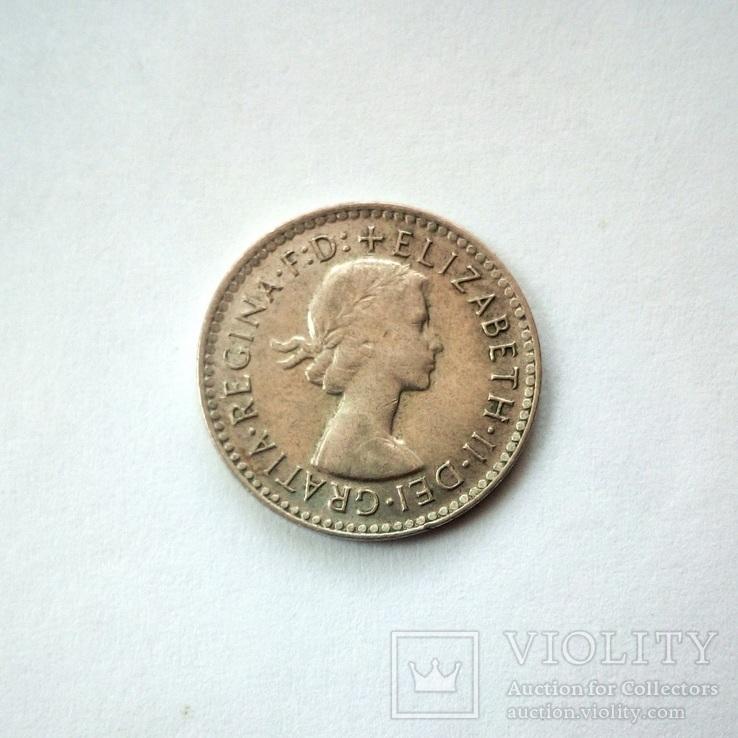 Австралия 3 пенса 1957 г., фото №5