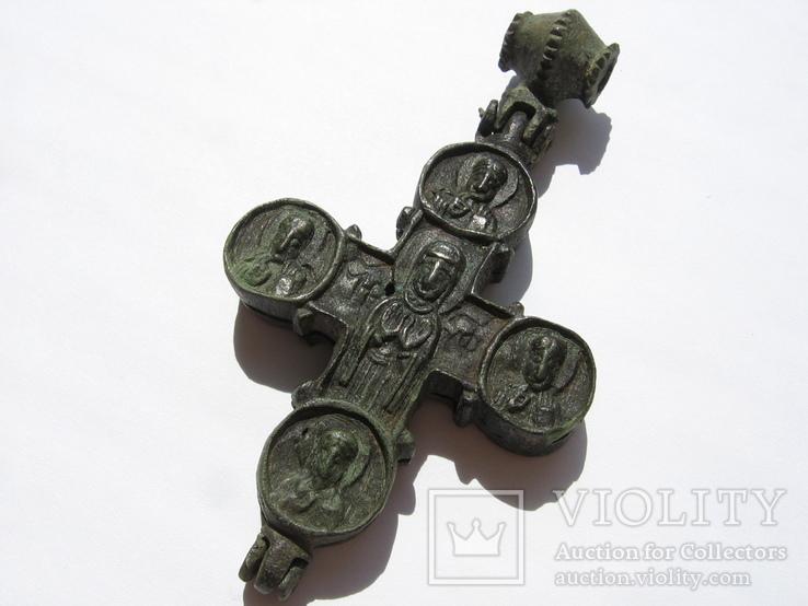 Энколпион Богородица помогай в наивном стиле-12-13век-10х5.3см