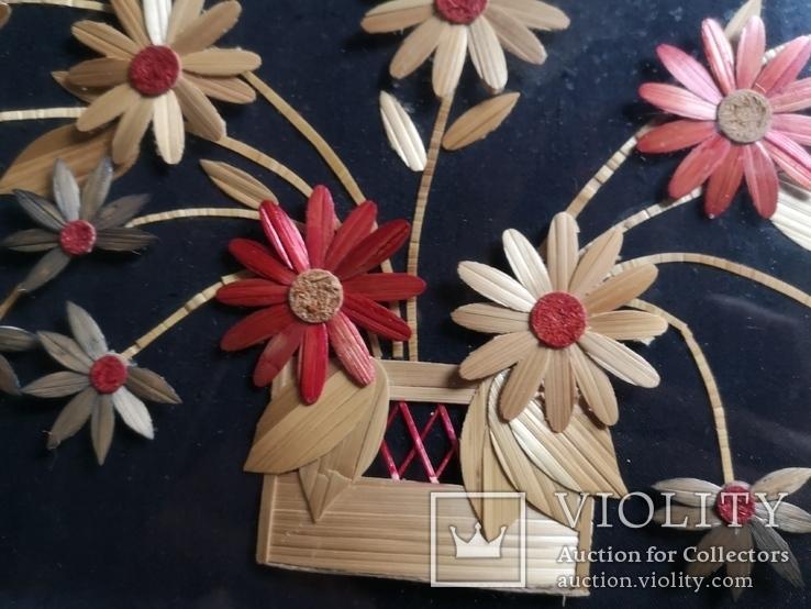 Картина натюрморт букет цветы солома, фото №7