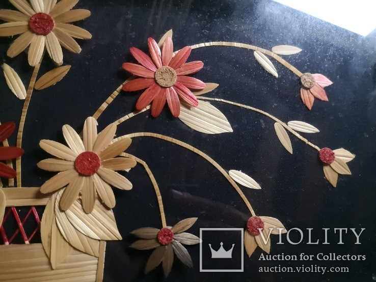 Картина натюрморт букет цветы солома, фото №9