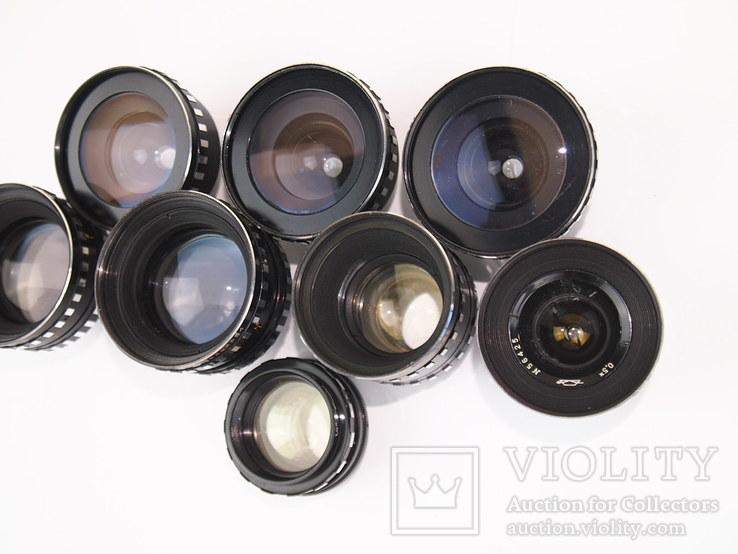 Объективы с кинокамер (8 штук), фото №5