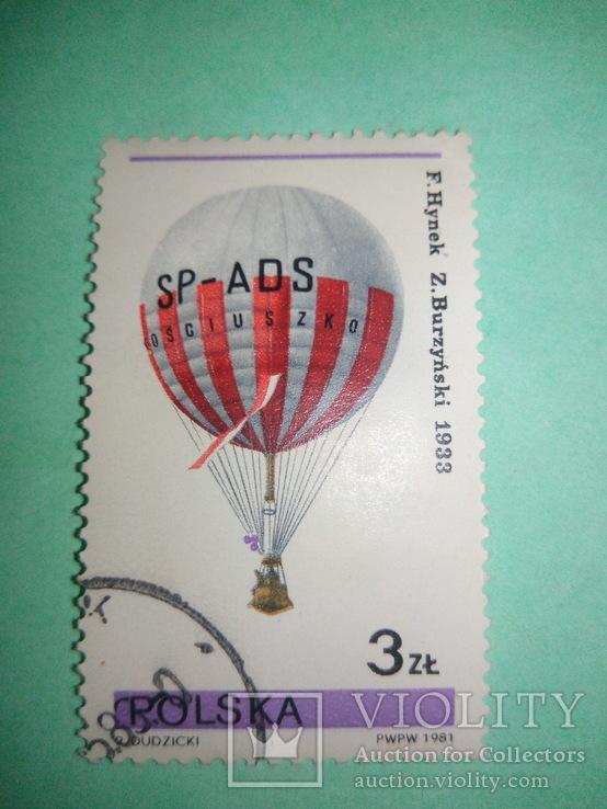Польская марка воздушный шар