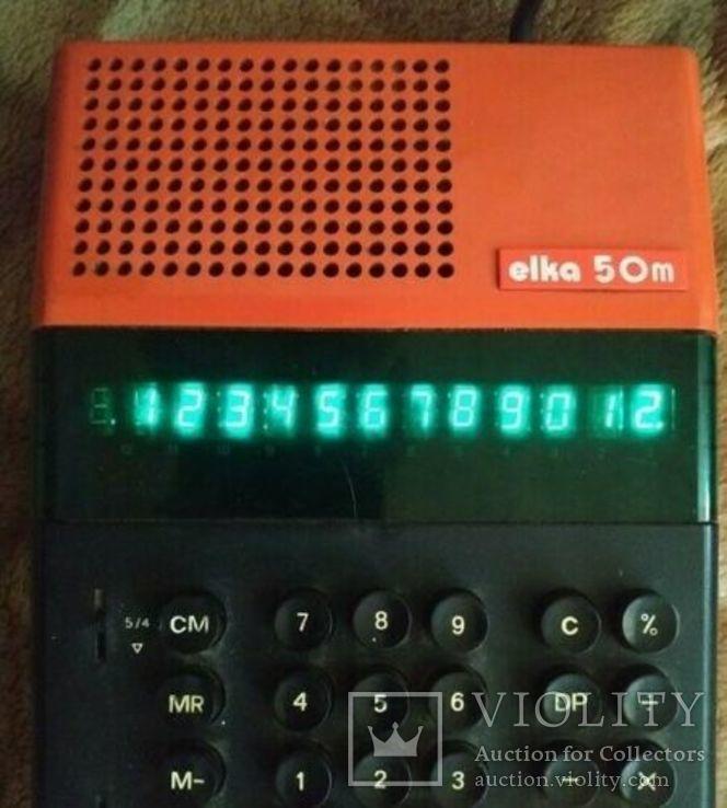 Калькулятор 1970-е Elka 50 M, фото №2