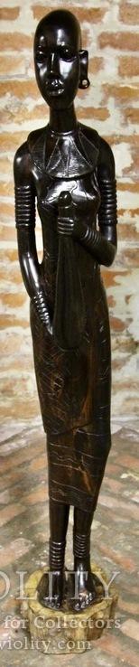 Фигура девушки Масаи 144см. Эбэновое(черное) дерево