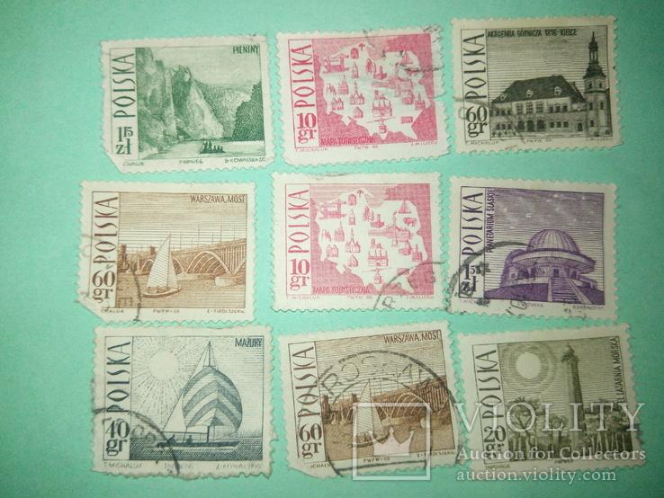 Польские марки 9шт.